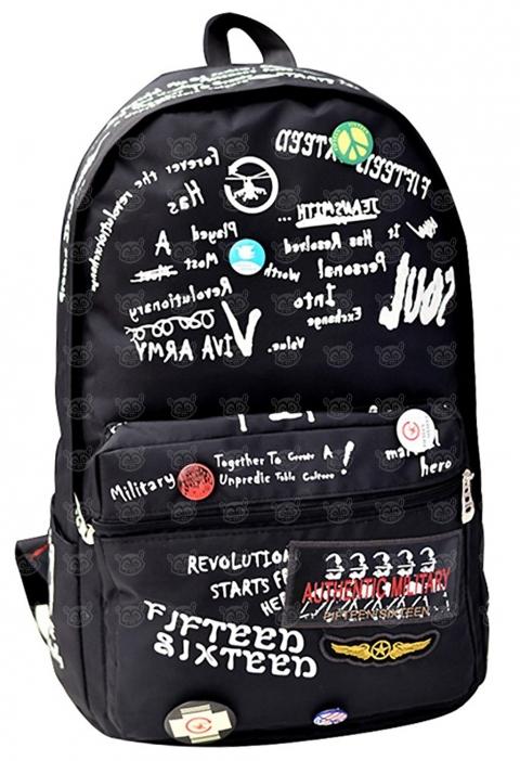 Рюкзак Hip Hop Граффити (черный) Бишкек и Ош купить в магазине игрушек LEMUR.KG доставка по всему Кыргызстану