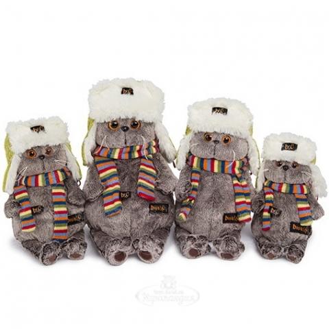 Мягкая игрушка Басик в зимней шапке Бишкек и Ош купить в магазине игрушек LEMUR.KG доставка по всему Кыргызстану