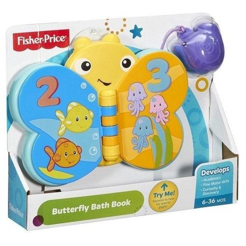 Книжка для купания 'Бабочка' Fisher-Price Бишкек и Ош купить в магазине игрушек LEMUR.KG доставка по всему Кыргызстану