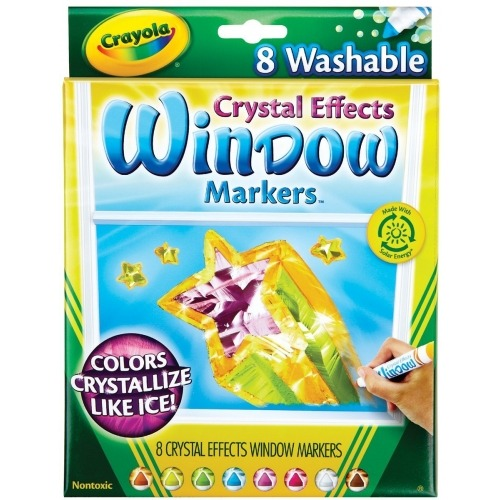 из 8 смываемых фломастеров Crayola для рисования на стекле с кристаллическим эффектом Бишкек и Ош купить в магазине игрушек LEMUR.KG доставка по всему Кыргызстану