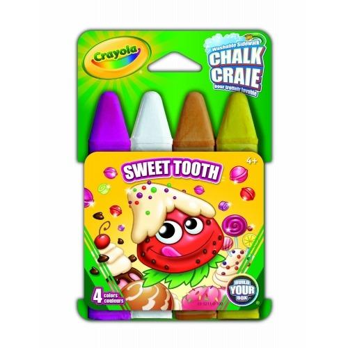 Смываемый мел Crayola для рисования на асфальте 'Сладкоежка' Бишкек и Ош купить в магазине игрушек LEMUR.KG доставка по всему Кыргызстану