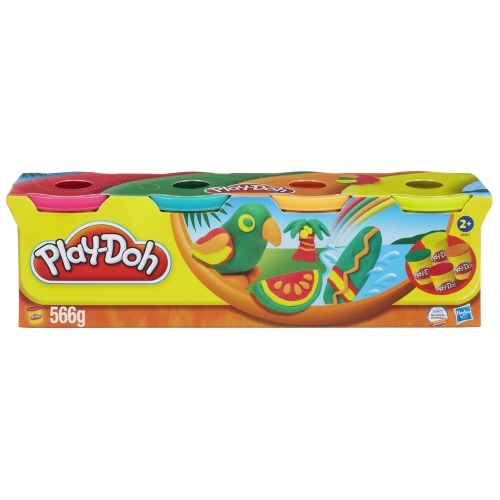пластилина в 4-х банках Play-Doh, в ассортименте Бишкек и Ош купить в магазине игрушек LEMUR.KG доставка по всему Кыргызстану