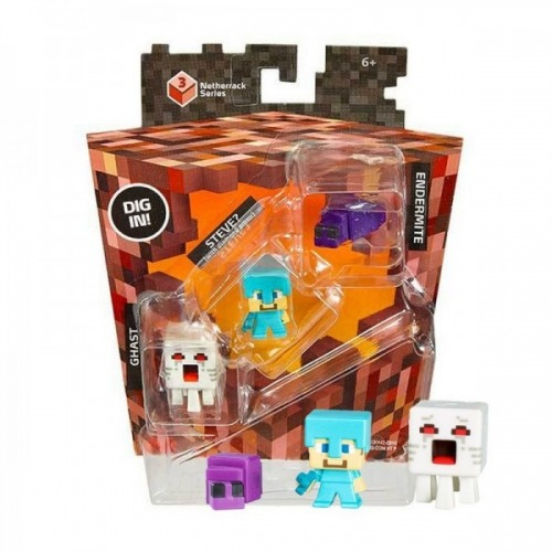 CKH42 Mega Bloks Майнкрафт Набор из 3 фигурок Бишкек и Ош купить в магазине игрушек LEMUR.KG доставка по всему Кыргызстану