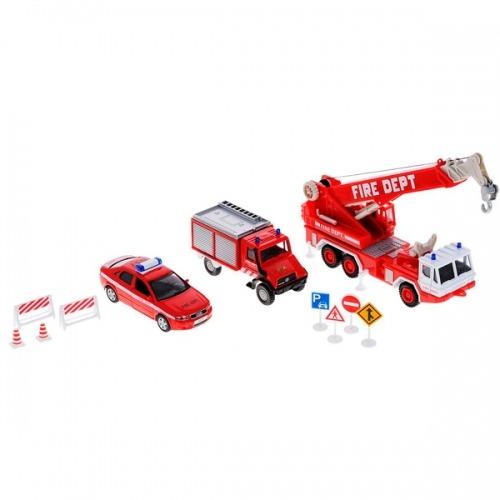 Welly набор машин 'Пожарная служба' 10 шт. Бишкек и Ош купить в магазине игрушек LEMUR.KG доставка по всему Кыргызстану