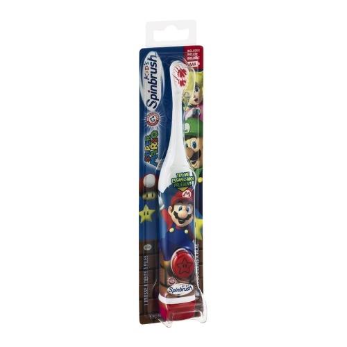 Детская электрическая зубная щетка SpinBrush'Arm & Hammer' Super Mario Бишкек и Ош купить в магазине игрушек LEMUR.KG доставка по всему Кыргызстану