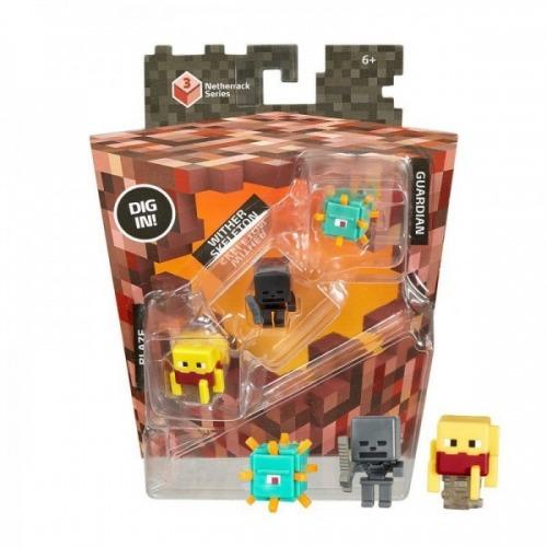 CKH41 Mega Bloks Майнкрафт Набор из 3 фигурок Бишкек и Ош купить в магазине игрушек LEMUR.KG доставка по всему Кыргызстану