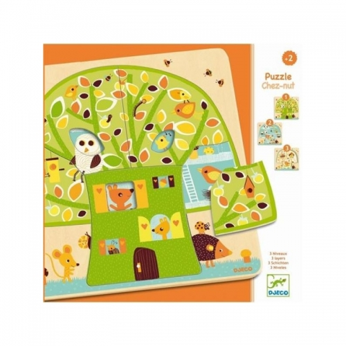 Djeco Пазл для малышей Дом-дерево Бишкек и Ош купить в магазине игрушек LEMUR.KG доставка по всему Кыргызстану