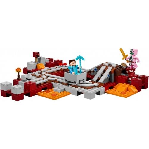 LEGO: Майнкрафт Подземная железная дорога Бишкек и Ош купить в магазине игрушек LEMUR.KG доставка по всему Кыргызстану
