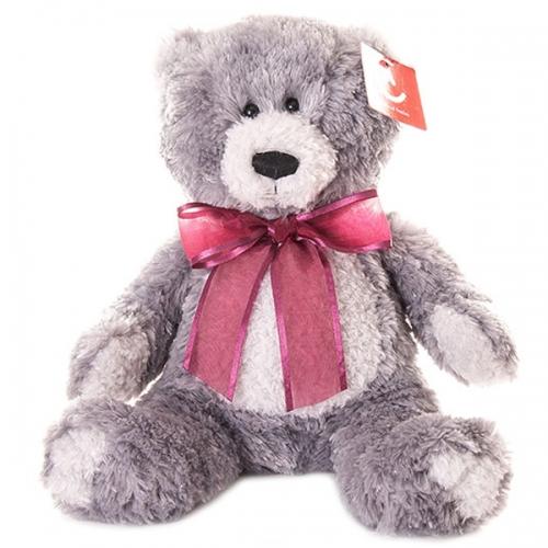 Мягкая игрушка Aurora Медведь серый 20 см Бишкек и Ош купить в магазине игрушек LEMUR.KG доставка по всему Кыргызстану