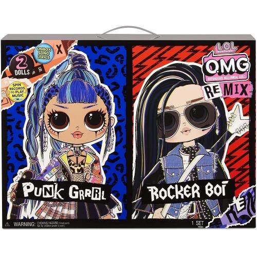 Набор L.O.L. Surprise! O.M.G. Remix Rocker Boi and Punk Grrrl Бишкек и Ош купить в магазине игрушек LEMUR.KG доставка по всему Кыргызстану