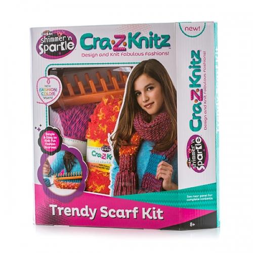 Cra-Z-Knitz Набор для вязания Шарф  Бишкек и Ош купить в магазине игрушек LEMUR.KG доставка по всему Кыргызстану