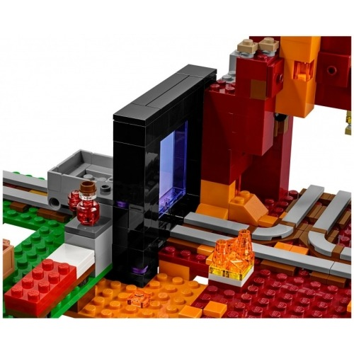 LEGO: Майнкрафт Портал в Нижний мир Бишкек и Ош купить в магазине игрушек LEMUR.KG доставка по всему Кыргызстану