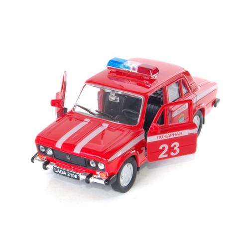 Welly модель машины 1:34-39 Lada 2106 пожарная охрана Бишкек и Ош купить в магазине игрушек LEMUR.KG доставка по всему Кыргызстану