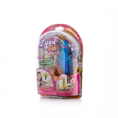 Интерактивная игрушка летающая птичка Zippi Pets синяя  Бишкек и Ош купить в магазине игрушек LEMUR.KG доставка по всему Кыргызстану