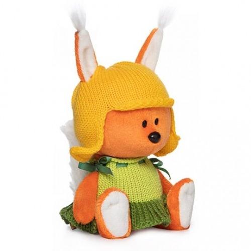 Мягкая игрушка Белка Бика в шапочке и платье - код 7536
