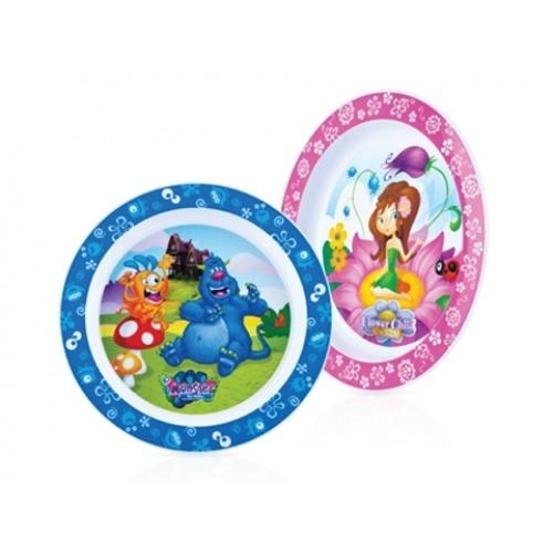 NUBY  Плоские тарелки 'Монстрик' и 'Цветочек' Бишкек и Ош купить в магазине игрушек LEMUR.KG доставка по всему Кыргызстану