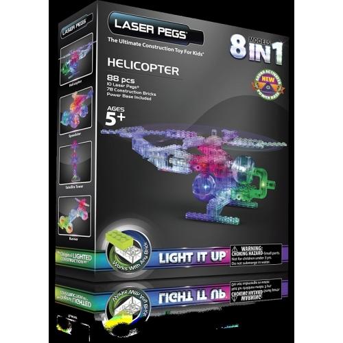Laser Pegs: Набор 8 в 1. Вертолет Бишкек и Ош купить в магазине игрушек LEMUR.KG доставка по всему Кыргызстану