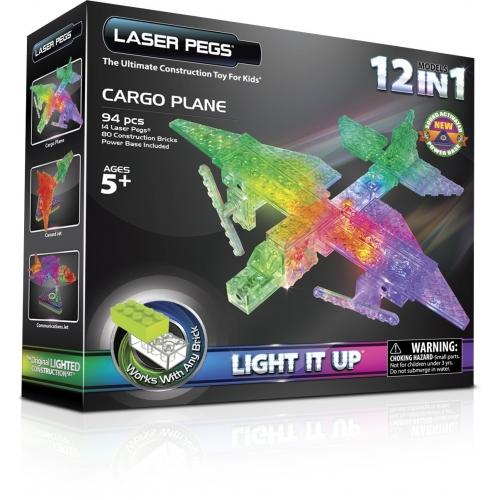 Laser Pegs: 12 в 1. Грузовой самолет Бишкек и Ош купить в магазине игрушек LEMUR.KG доставка по всему Кыргызстану