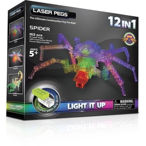 Laser Pegs: 12 в 1. Паук Бишкек и Ош купить в магазине игрушек LEMUR.KG доставка по всему Кыргызстану