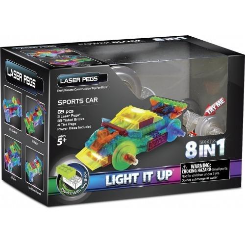 Laser Pegs: 8 в 1. Энергоблок Машина Бишкек и Ош купить в магазине игрушек LEMUR.KG доставка по всему Кыргызстану