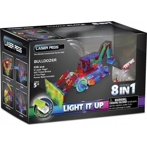 Laser Pegs: 8 в 1. Энергоблок Бульдозер Бишкек и Ош купить в магазине игрушек LEMUR.KG доставка по всему Кыргызстану