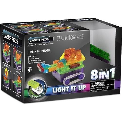 Laser Pegs: 8 в 1. Танк с цветными деталями Бишкек и Ош купить в магазине игрушек LEMUR.KG доставка по всему Кыргызстану