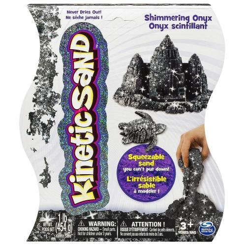 Кинетический песок Kinetic Sand (цвет - Черный металлик, вес - 455 гр.) Бишкек и Ош купить в магазине игрушек LEMUR.KG доставка по всему Кыргызстану