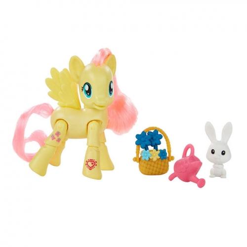 Мини-My Little Pony 'Пони с артикуляцией' Флаттершай Бишкек и Ош купить в магазине игрушек LEMUR.KG доставка по всему Кыргызстану