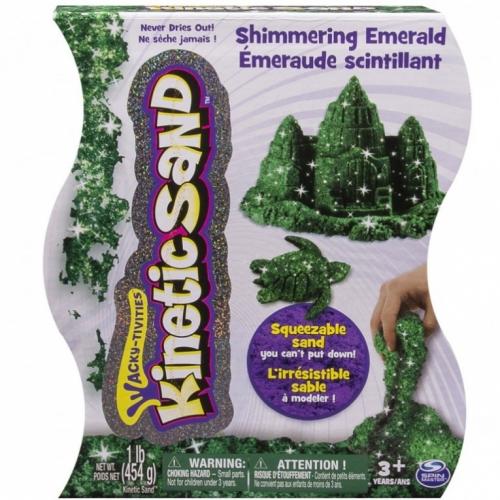 Кинетический песок Kinetic Sand (цвет - Зеленый металлик, вес - 455 гр.) Бишкек и Ош купить в магазине игрушек LEMUR.KG доставка по всему Кыргызстану