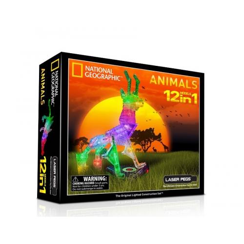 Laser Pegs: 12 в 1. Животные Бишкек и Ош купить в магазине игрушек LEMUR.KG доставка по всему Кыргызстану