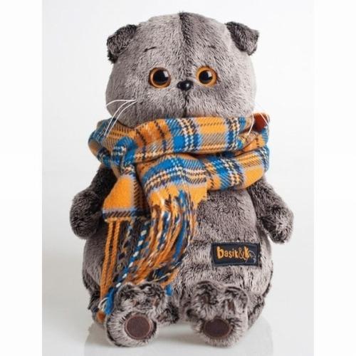 Мягкая игрушка Кот Басик и шарф в клеточку Бишкек и Ош купить в магазине игрушек LEMUR.KG доставка по всему Кыргызстану