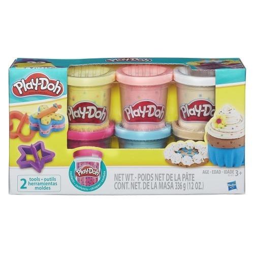 Игровой Play-Doh из 6 баночек с конфетти Бишкек и Ош купить в магазине игрушек LEMUR.KG доставка по всему Кыргызстану