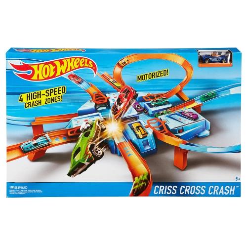 Hot Wheels Моторизированный трек 'Авария крест накрест' Бишкек и Ош купить в магазине игрушек LEMUR.KG доставка по всему Кыргызстану