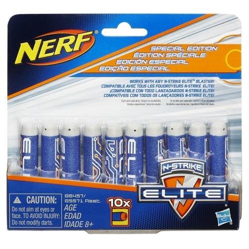 Патроны для бластеров NERF Elite - N-Strike Elite, 10 шт. Бишкек и Ош купить в магазине игрушек LEMUR.KG доставка по всему Кыргызстану