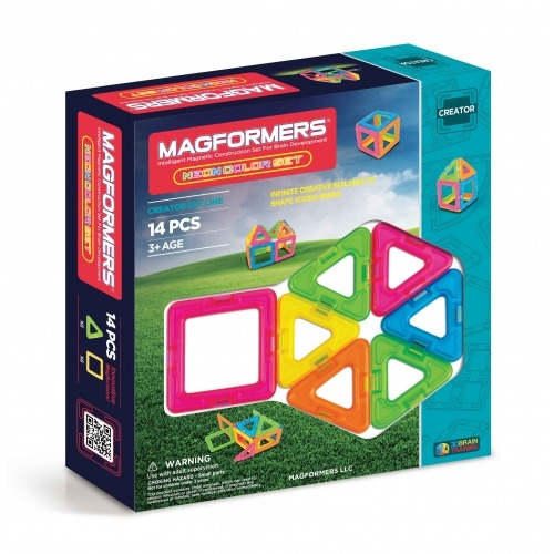 Магнитный конструктор Magformers 'Неоновые цвета' Бишкек и Ош купить в магазине игрушек LEMUR.KG доставка по всему Кыргызстану