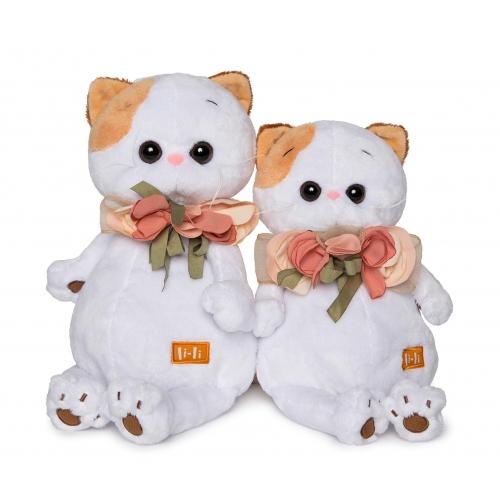 Мягкая игрушка Кошечка Ли-Ли с цветами из шелка Бишкек и Ош купить в магазине игрушек LEMUR.KG доставка по всему Кыргызстану