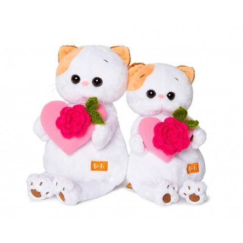 Мягкая игрушка Кошечка Ли-Ли с розовым сердечком Бишкек и Ош купить в магазине игрушек LEMUR.KG доставка по всему Кыргызстану