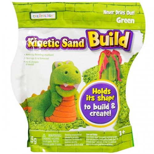 Кинетический песок Kinetic Sand из серии 'Build' (вес - 454 гр.) - зеленый Бишкек и Ош купить в магазине игрушек LEMUR.KG доставка по всему Кыргызстану