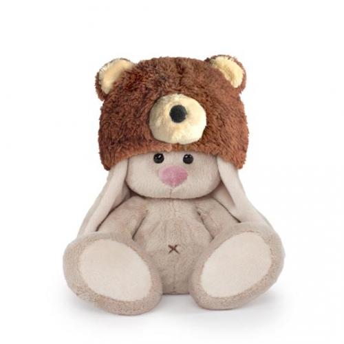 Мягкая игрушка Зайка Ми в шапке медвежонка (малыш) Бишкек и Ош купить в магазине игрушек LEMUR.KG доставка по всему Кыргызстану