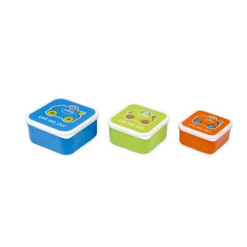 Ланч бокс 3 в 1 Trunki, голубой, оранжевый, зеленый Бишкек и Ош купить в магазине игрушек LEMUR.KG доставка по всему Кыргызстану