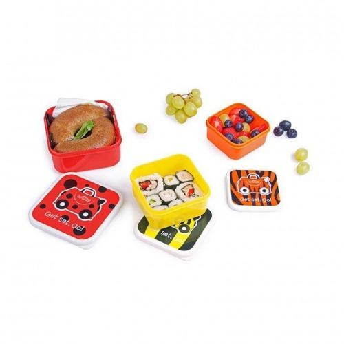 Ланч бокс 3 в 1 Trunki, красный, оранжевый, желтый Бишкек и Ош купить в магазине игрушек LEMUR.KG доставка по всему Кыргызстану