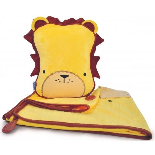 Подушка с пледом Trunki - SnooziHedz Лев Leeroy Бишкек и Ош купить в магазине игрушек LEMUR.KG доставка по всему Кыргызстану