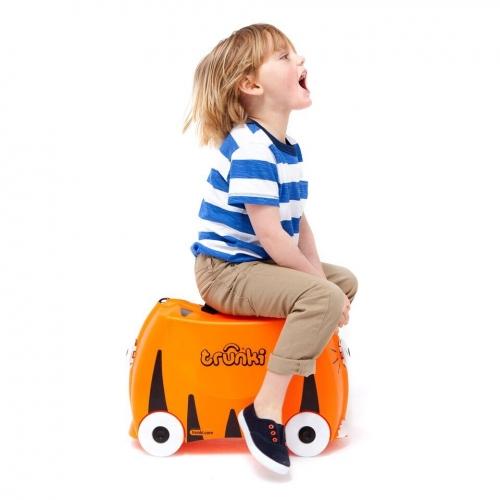 Детский чемодан на колесах 'Типу Тигр' Trunki Бишкек и Ош купить в магазине игрушек LEMUR.KG доставка по всему Кыргызстану