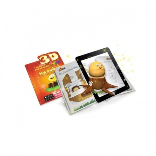 3D сказка раскраска 'Колобок' Бишкек и Ош купить в магазине игрушек LEMUR.KG доставка по всему Кыргызстану