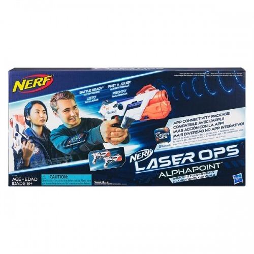 2 бластера Nerf с аксессуарами Лазер Опс Альфапоинт Бишкек и Ош купить в магазине игрушек LEMUR.KG доставка по всему Кыргызстану