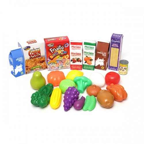 Игровой набор Boley Корзинка с продуктами (23 шт) Бишкек и Ош купить в магазине игрушек LEMUR.KG доставка по всему Кыргызстану