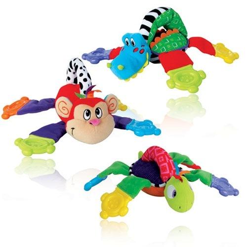 NUBY Плюшевая игрушка-прорезыватель (обезьяна, черепаха, крокодил) Бишкек и Ош купить в магазине игрушек LEMUR.KG доставка по всему Кыргызстану