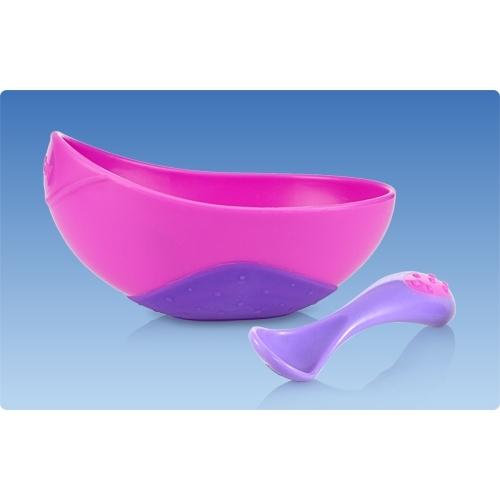 NUBY Глубокая чашка с рельефной ложкой Бишкек и Ош купить в магазине игрушек LEMUR.KG доставка по всему Кыргызстану