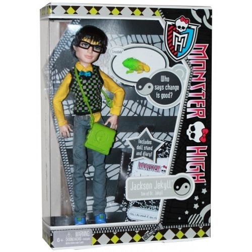 Monster High Джэксон Джэкилл с питомцем Первый Выпуск Бишкек и Ош купить в магазине игрушек LEMUR.KG доставка по всему Кыргызстану