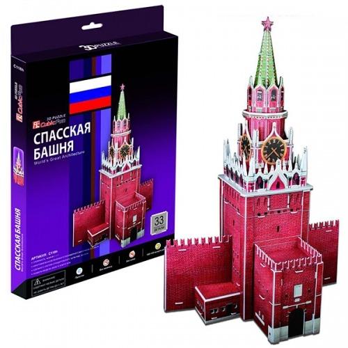 3D пазл Спасская башня (Россия) Бишкек и Ош купить в магазине игрушек LEMUR.KG доставка по всему Кыргызстану